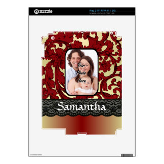 Red rust damask skin for the iPad 2