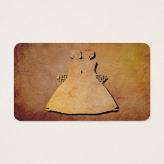 Red Rustic Gay Brides' Wedding Business Card
