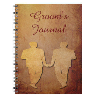 Red Rustic Groom's Journal for a Gay Wedding