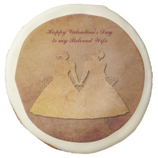 Red Rustic Lesbian Wife Valentine Cookies