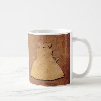 Red Rustic Paper Lesbian Wife Valentine Mug