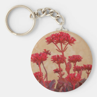 Red Rustic Plant Keychain