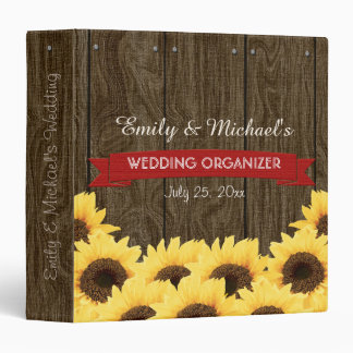 RED RUSTIC SUNFLOWER WEDDING ORGANIZER BINDER