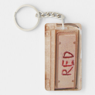 Red rustic ute tailgate tail light keychain