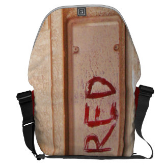 Red rustic ute tailgate tail light messenger bag