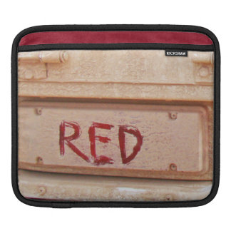 Red rustic ute tailgate tail light sleeve for iPads