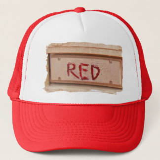 Red rustic ute tailgate tail light trucker hat