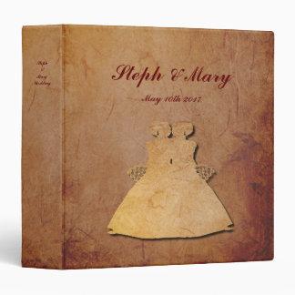 Red Rustic Vintage Lesbian Wedding Album Binders