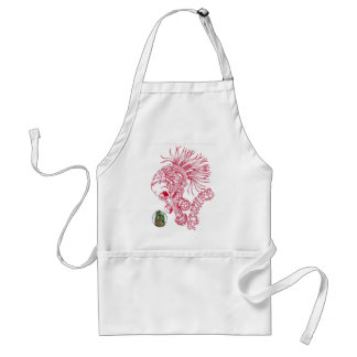 Red - Ruthless Adult Apron