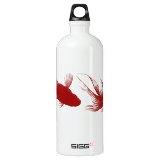 Red Ryukin Goldfish Aluminum Water Bottle