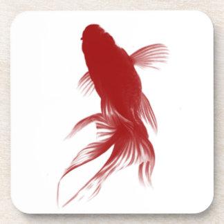 Red Ryukin Goldfish Drink Coaster