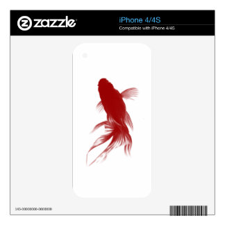 Red Ryukin Goldfish iPhone 4S Decal