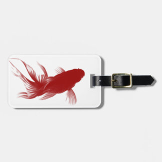 Red Ryukin Goldfish Luggage Tag
