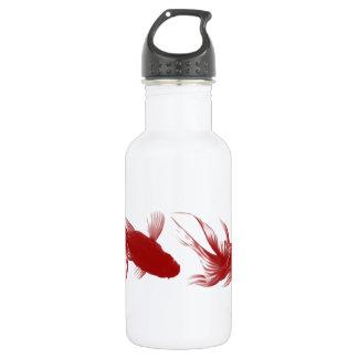 Red Ryukin Goldfish Stainless Steel Water Bottle