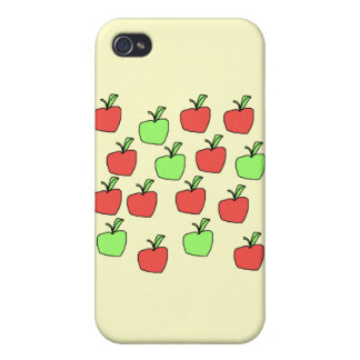 Red s and Green Apples, Pern, on Cream. iPhone 4/4S Case
