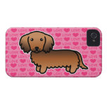 Red Sable Long Coat Dachshund Love iPhone 4 Cases