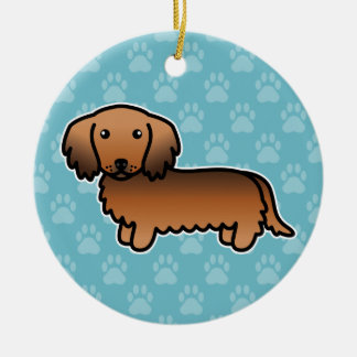 Red Sable Long Coat Dachshund Ornament