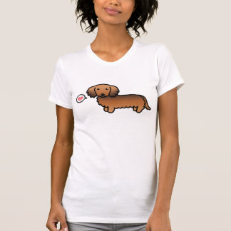 Red Sable Long Coat Dachshund With A Heart T-Shirt