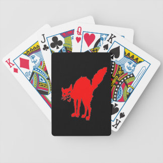 red sabot cat playing cards