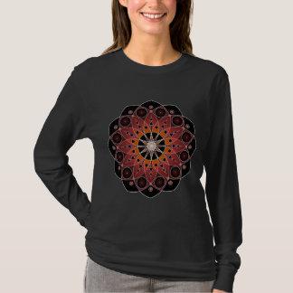 Red Sacred Heart Blossom with Star Burst Center T-Shirt