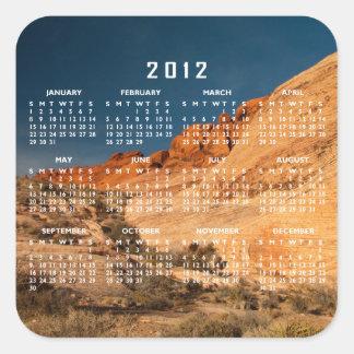 Red Saddle Rocks; 2012 Calendar Square Sticker