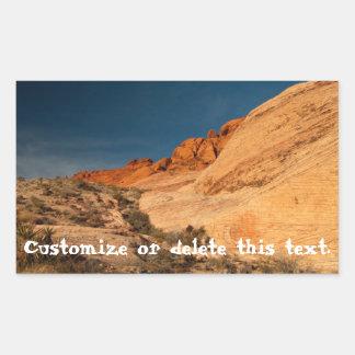 Red Saddle Rocks; Customizable Sticker