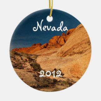 Red Saddle Rocks; Nevada Souvenir Ornament