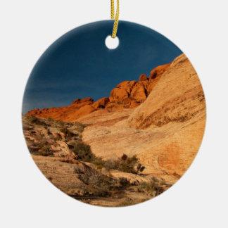 Red Saddle Rocks Christmas Ornaments