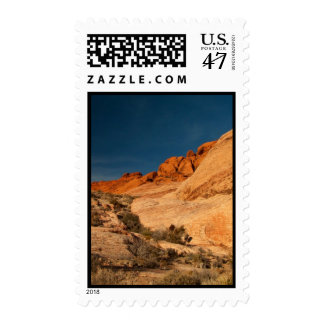 Red Saddle Rocks Postage Stamp