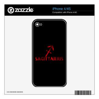 Red Sagittarius Horoscope Symbol Skin For The iPhone 4S