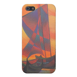 Red Sails in the Sunset Cubist Junk Abstract Cover For iPhone SE/5/5s