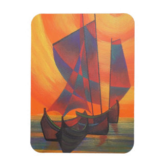 Red Sails in the Sunset Rectangular Magnet