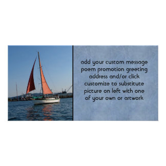 Red Sails Picture Card