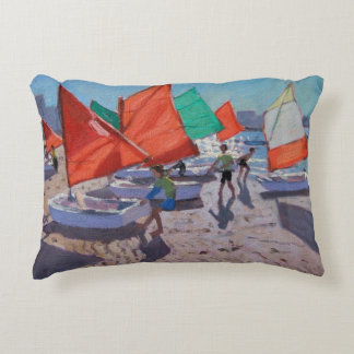 Red Sails Royan France Accent Pillow