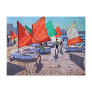 Red Sails Royan France Canvas Print