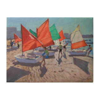Red Sails Royan France Wood Print