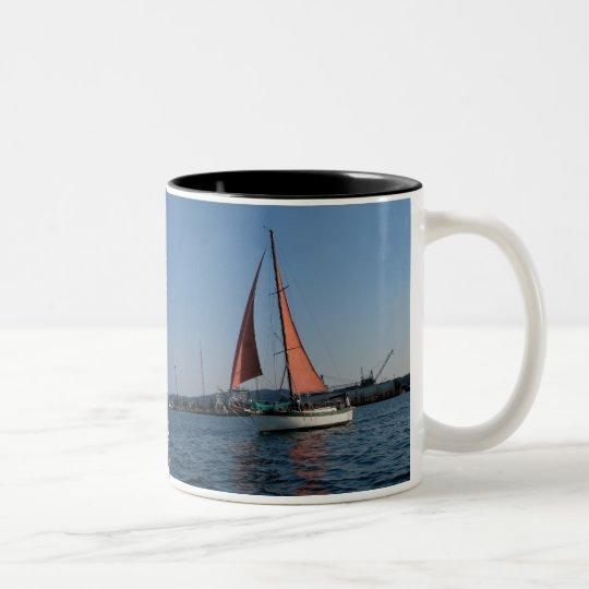 Red Sails Two-Tone Coffee Mug