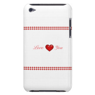 Red Saint Valentine's Day Barely There iPod Case
