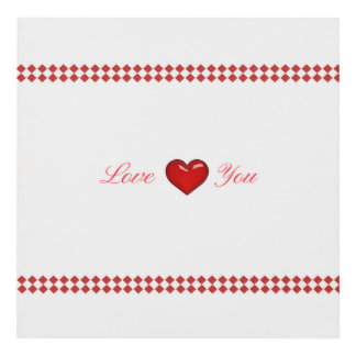 Red Saint Valentine's Day Panel Wall Art