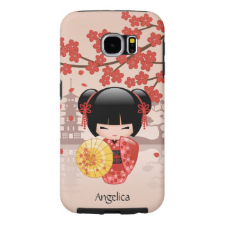 Red Sakura Kokeshi Doll - Japanese Geisha Samsung Galaxy S6 Case