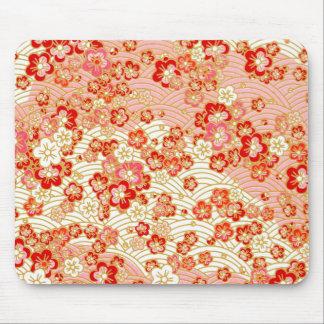 Red Sakura Mouse Pad