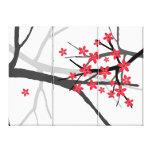 Red Sakura  Wrapped Canvas Canvas Print