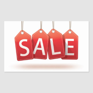 Red Sale Tags Sticker
