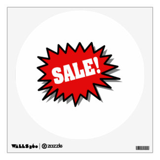 Red Sale Wall Sticker