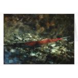 Red Salmon #01 Greeting Card