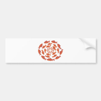 Red  Salmon Fish Bumper Sticker