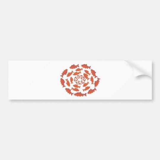 Red  Salmon Fish Bumper Sticker
