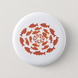 Red  Salmon Fish Pinback Button