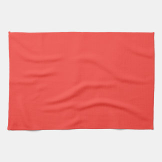 Red Salmon Solid Color Hand Towel