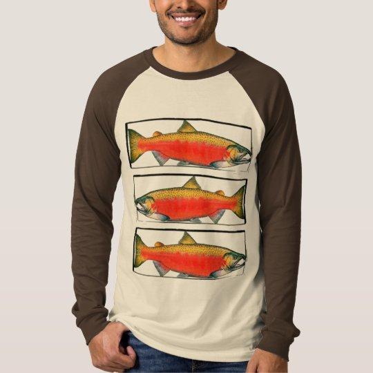 Red Salmon Trio T-Shirt